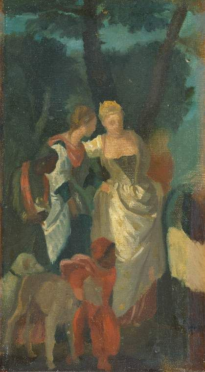 Copy after 'The Finding of Moses' by Veronese | Edgar Degas | Oil Painting
