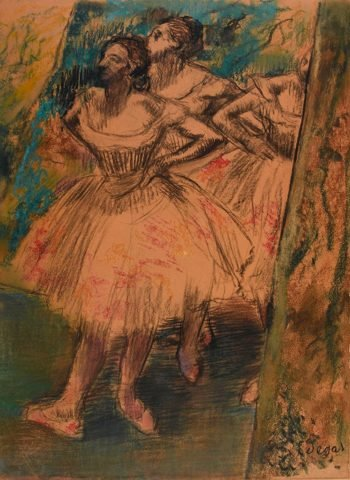 Dancers in the wing | Edgar Degas | Oil Painting