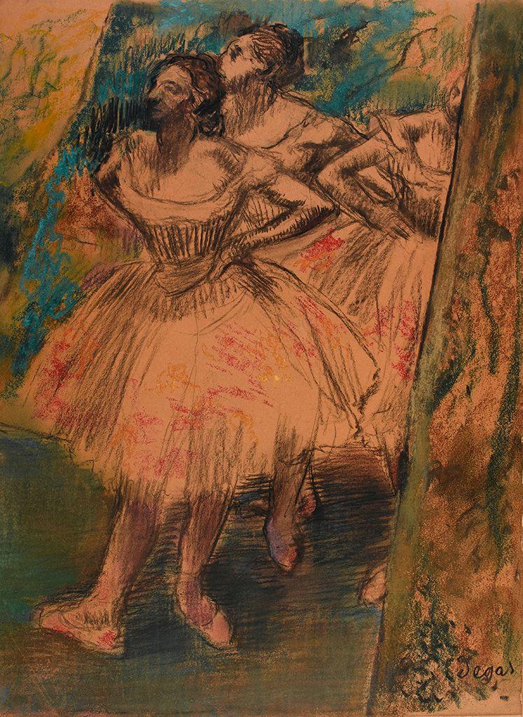 Dancers in the wing | Edgar Degas | Oil Painting
