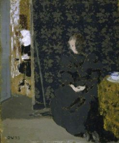 The Artist's Sister with a Cup of Coffee   Edouard Vuillard   Oil Painting