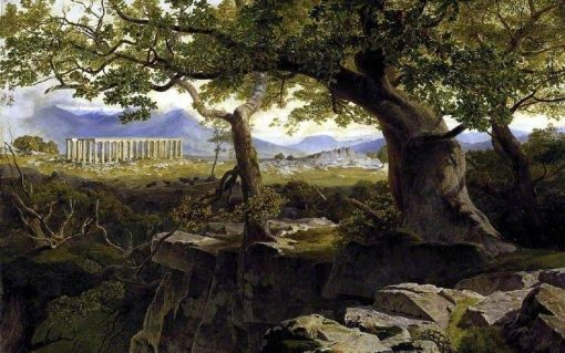 The Temple of Apollo at Bassae   Edward Lear   Oil Painting