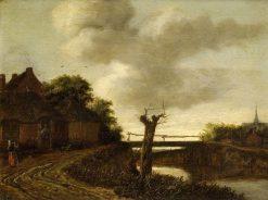 Landscape with a Bridge   Emanuel Murant   Oil Painting