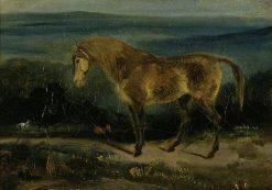 Horse in a Landscape | Eugene Delacroix | Oil Painting