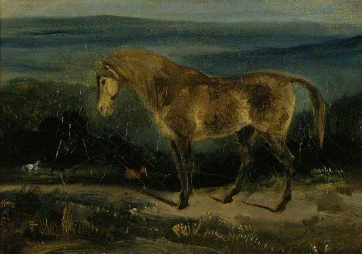 Horse in a Landscape   Eugene Delacroix   Oil Painting