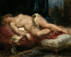 Odalisque Reclining on a Divan   Eugene Delacroix   Oil Painting