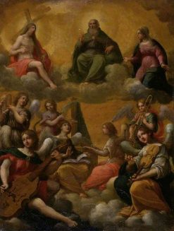 The Trinity with the Virgin Mary and Musician Angels | Francesco Albani | Oil Painting