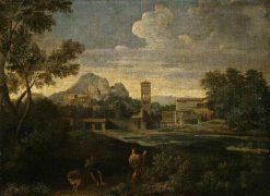 Landscape with Figures   Gaspard Dughet   Oil Painting