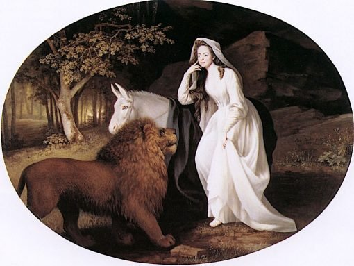 Isabella Salstonstall as Una in Spenser's 'Faerie Queene' | George Stubbs | Oil Painting