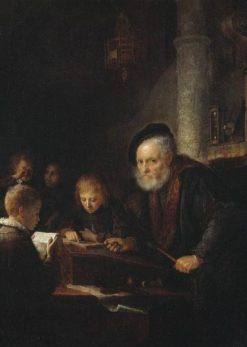 The Schoolmaster | Gerrit Dou | Oil Painting