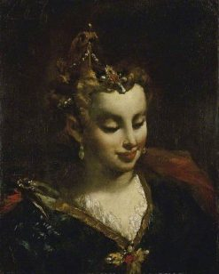 Pharaoh's Daughter (after Jacopo Palma) | Giovanni Antonio Guardi | Oil Painting