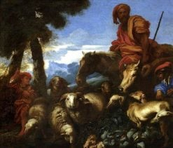 Abraham Journeying to the Land of Canaan | Giovanni Castiglione | Oil Painting
