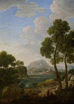 Landscape with Figures and Cattle | Hendrik Frans van Lint | Oil Painting