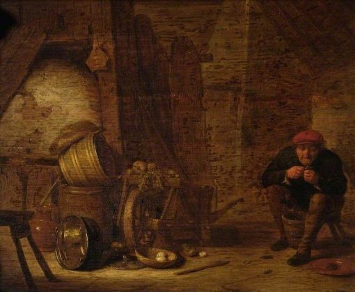 Peasant in an Outhouse | Hendrik Martensz. Sorgh | Oil Painting