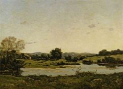 On the Banks of the Oisne | Henri Joseph Harpignies | Oil Painting
