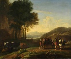 Landscape with Joseph and His Brethren | Herman van Swanevelt | Oil Painting