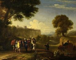 Landscape with the Sale of Joseph | Herman van Swanevelt | Oil Painting