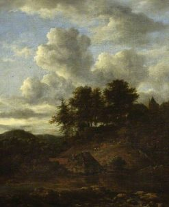 Landscape with River and Pines | Jacob van Ruisdael | Oil Painting