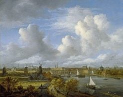 A View on the Amstel Looking towards Amsterdam | Jacob van Ruisdael | Oil Painting
