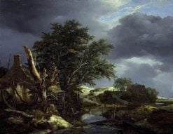 Landscape with a Blasted Tree   Jacob van Ruisdael   Oil Painting
