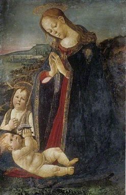 Virgin Adoring the Child | Jacopo del Sellaio | Oil Painting