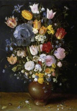 A Stoneware Vase with Flowers | Jan Brueghel the Elder | Oil Painting