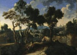 Landscape with Figures   Jan Miel   Oil Painting