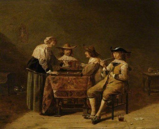Gentlemen Playing Backgammon | Jan Olis | Oil Painting