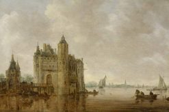 A Watergate by an Estuary | Jan van Goyen | Oil Painting