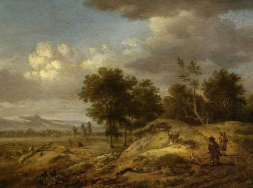 Landscape with Coursing | Jan Wijnants | Oil Painting