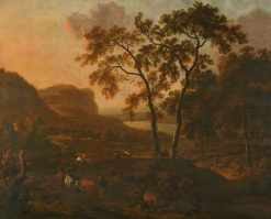 Landscape with Cattle | Jan Wijnants | Oil Painting