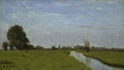 Landscape in Holland | Jean Baptiste Camille Corot | Oil Painting