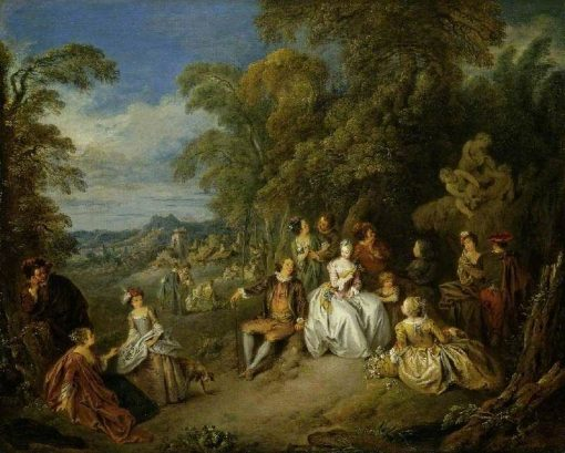 Elegant Company in a Park | Jean Baptiste Pater | Oil Painting