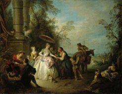The Fortune Teller   Jean Baptiste Pater   Oil Painting