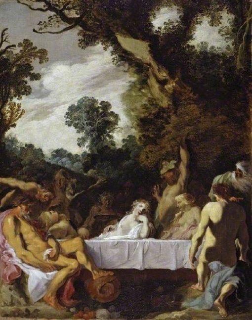 A Bacchanalian Feast | Johann Liss | Oil Painting