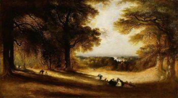 Landscape: View in Richmond Park   John Martin   Oil Painting