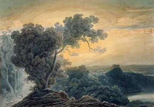 Castel Gandolfo and Lake Albano | John Robert Cozens | Oil Painting