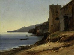 The Coast of the Bay of Naples near Posillipo | Jules Coignet | Oil Painting