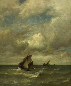 Shipping in a Breeze | Jules DuprE | Oil Painting
