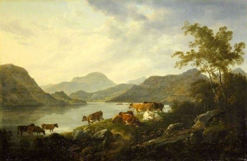 Ullswater from the Foot of Gowbarrow Fell | Julius Caesar Ibbetson | Oil Painting