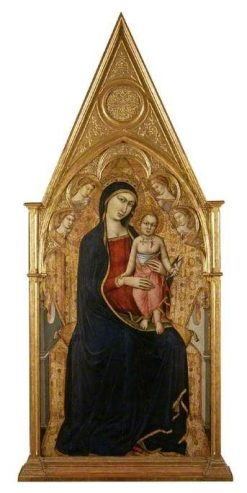 Virgin and Child Enthroned | Luca di TommE | Oil Painting