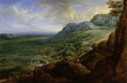 The Escorial from a Foothill of the Guadarrama Mountains | Lucas van Uden | Oil Painting