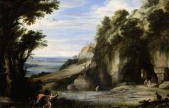 Landscape with Pan and Syrinx (after Paul Bril) | Marten Ryckaert | Oil Painting