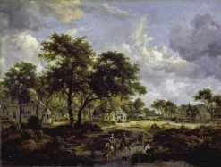 Wooded Landscape | Meindert Hobbema | Oil Painting