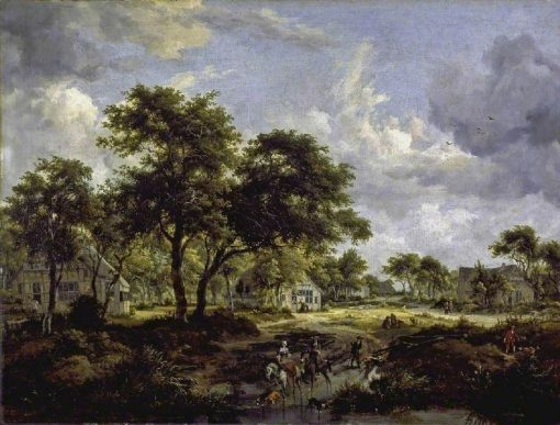 Wooded Landscape | Meindert Hobbema | Oil Painting
