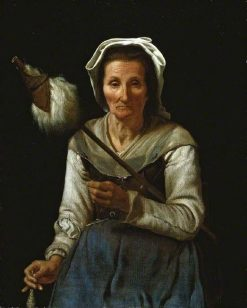 An Old Woman Spinning | Michiel Sweerts | Oil Painting