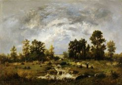 Wooded Landscape | Narcisse Dìaz de la Peña | Oil Painting