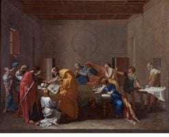 Extreme Unction   Nicolas Poussin   Oil Painting