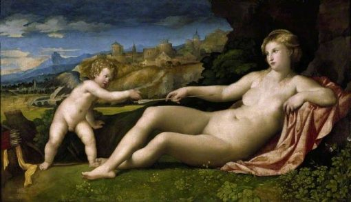Venus and Cupid | Palma il Vecchio | Oil Painting