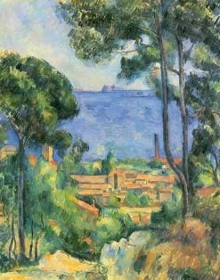 View of l'Estaque and the Chateau d'If | Paul CEzanne | Oil Painting