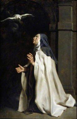 Teresa of Avila's Vision of the Dove   Peter Paul Rubens   Oil Painting